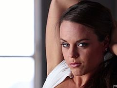 Zealous slim brunette gonna go solo right in the early morning. Horn-mad chick with pretty face, nice tits and flossy rounded ass can surely make any man jizz at once. Just check out kinky pro in masturbation presented in Babes sex clip and get ready to jizz all over the place.