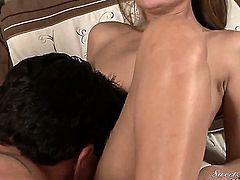 Elexis Monroe has blowjob experience of her lifetime with hard cocked guy Marco Banderas