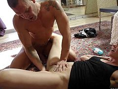 Bobbi Starr is a fuckilicious brunette that gets used by Nacho Vidal. She parts her legs and gets her hairy snatch eaten out before he sticks his fingers in her many times used anal hole.