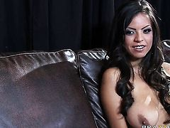 Yurizan Beltran with juicy tits is a fuck addict who loves Rocco Reed's stiff ram rod so much