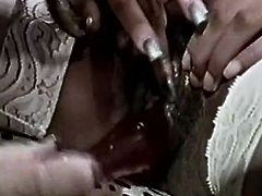 In this classic porn video gorgeous white dyke licks the wet pussy of a stunning ebony goddess with short hair. Watch as they lick each other's wet cunts in the ways that only a woman can. They moan with pleasure.