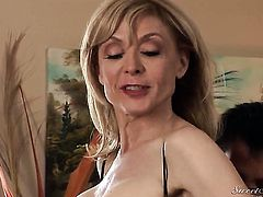 Nina Hartley gets skull drilled by Dane Cross