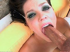 This honey loves taking extra large cocks in her mouth and this time this man gives her his own. Oh, she is pretty sexcited, when it goes in her mouth!
