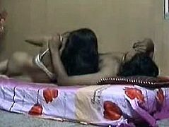 Kinky brunette gets her pussy eaten on the bunk bed by horny Indian man and repays him with a solid blowjob for sperm right away. Just check out slim blowlerina presented in Indian Sex Lounge XXX clip to jerk off and jizz.