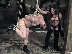 See the ass fucking Sativa Rose gives to this guy with her strapon dildo before face sitting him while he has a dildo on his face.