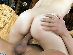 Brunette Diamond Cross and hot dude are so fucking horny in this cock sucking action
