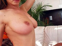 Rita Faltoyano is a long haired sexy babe with juicy tits. She gets her hairy snatch fucked before she takes dudes love bone in her anal tunnel. She has a nice time riding dick in the ass.