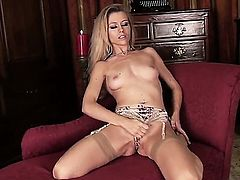 Michelle Moist spends her sexual energy alone using vibrator
