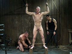 Dude gets tied up and fucked in this kinky bondage gay sex scene right here, if you dig this kinda shit, then you should most def check it out!