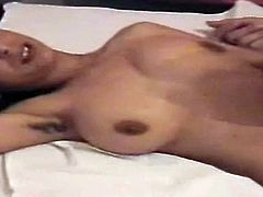 She is cute and amateur. Indian brunette wifey is happy to please her husband with a nice blowjob right on the homemade sex video.