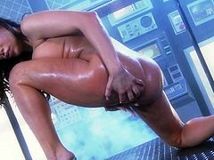 Aleksa Nicole is a busty minx who squirts right away when she feels a throbbing cock inside her ass hole.