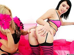 Lina A and Cristal May show their love for pussy eating