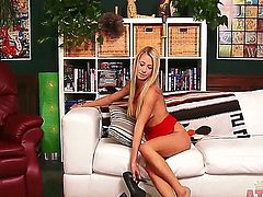 Mandy Armani loves to finger her juicy pussy when the camera is one. She loves to do that when she gets a chance to be alone in her house. She is one nasty bitch, no fucking lie.