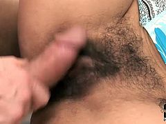 Well, this long and curly haired brunette is surely a futuristic lover. Zealous bitch with big boobs loves sucking a dick for cum. Stretching legs wide spoiled nympho with hairy pussy desires to be analfucked tough right on the couch.