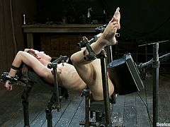 The short-haired redhead Dylan Ryder is getting dominated, toyed and tortured in this BDSM porn video with some pretty wild stuff going on.
