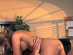 Cute cum craving blonde babe Aubrey gets her cute wet cunt banged before taking warm load