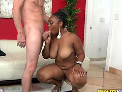 Gosh, don't miss a chance to jizz at once along with Reality Kings sex clip. Awesome pretty black chick has huge butt, which makes my mouth water. Zealous whore bends over the chair to get her quim polished from behind. Then zealous nympho kneels down and sucks a tasty lollicock for sperm. Damn, such a hot kinky girlie can surely make any man jizz at once.
