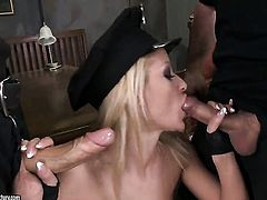 Blonde Chary Kiss gets poked in her butthole