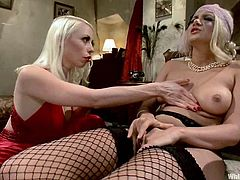 This female domination video has Laela Pryce playing with Lorelei Lee, tying her up, fucking her pussy with her strapon and more.
