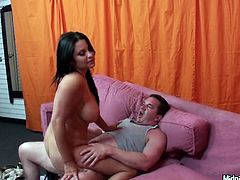 All the basic sex positions are useful to please hot brunette Sophia Lomeli