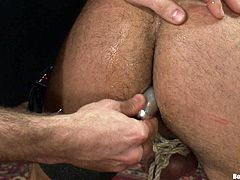 Get a load of this gay bondage video where these guys have fun being tortured as well as sucking and fucking each other's big cocks.