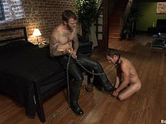 Watch this gay bondage film where these guys have a great time harming one another as well as pleasing each other.