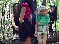Hot pissing lesbian teens get sex together