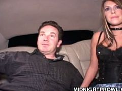Divine Latin prostitute gets into a car to the stranger where she gives him a rimjob wearing black corset and stockings in sizzling hot sex video by Pornstar.