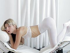 Sweet Gina Gerson likes stretching her vag and feeling her pussy deep during solo action