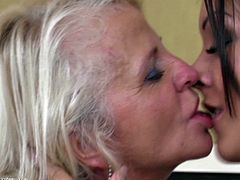 Shery and Lolta show us in their very special way that love doesn't takes age in consideration. One is blonde, experienced and horny and the other one is a sexy brunette, much younger then her girl but just as hornier. The fucking whores lick pussy, kiss and suck their nipples with passion