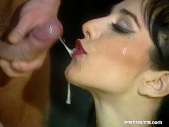 This is a hot group sex with some elements of swinging. Two luscious sirens Karla Romano and Lara Stevens get naked and fuck these two studs!