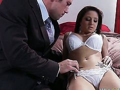 Johnny Castle seduces Charity Bangs into fucking