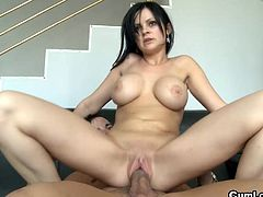 Adorable Anastasia Brill likes sucking and having her guy fucking that pussy in true hardcore