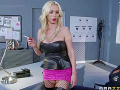 Hot bodied Officer Summer Brielle with round ass and big tits pulls down her panties in front of sexy Nikki Benz. Long haired hot babe Nikki Benz is an undercover police office in prostitute outfit. She teaches her a lesson.