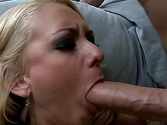 Handsome hunk Scott Nails has a party and both his babes are there. He ends up taking the beautiful blonde slut, Briana Blair, into his room and quickly gets his hard dick in between those massive white titties of hers. Great cum shot all over them.