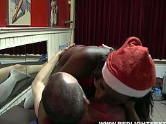 Bootylicious ebony slut knows how to please a man. She blows her client's dick in 69 pose and then she rides him hard in cowgirl position. After a while she bends over for doggy style.