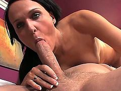 Horny brunette Bobbi gets her candy pot eaten before enjoying a hardcore bang indoors