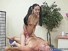 Amai Liu gives Jay Crew a massage with a  very happy ending ;)