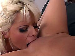 Lola Darling and Vanessa Jordin are horny bitches who love to make out whenever they have a chance for that. They love to eat their twats like true whores. This video is so hot!