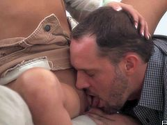 Nikki Daniels and her man make love