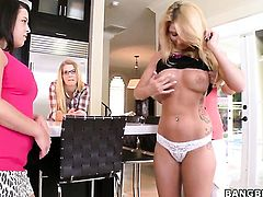 Mercedes Lynn and Katie Banks are in the mood for carpet munching