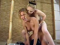 There's some pretty crazy bondage action with ropes in this video featuring Jenni Lee and her lesbian dominatrix.