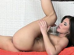 Caprice makes it rain whenever she plays with her pussy and rubs it like a real pro
