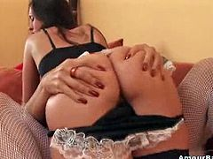 A couple hot sexy babes in hot lingerie getting crazy all over each other in this sweet-ass lesbian sex scene packed with female lust!