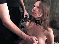 Two man are giving a fetish double penetration show! Amer Rayne is the victim and babe loves being painsulted and fucked so dirtily!