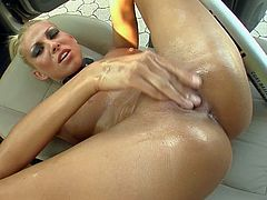 Clara G is a hot blooded blonde with perfect body. Leggy porn diva with sexy poses naked outside and then fist fucks her hairless pussy in a car. She does it like theres no tomorrow.