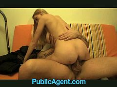 Check out this hot blonde big titted milf Lucie! She is ready to do anything for extra money and got her pussy creampied by a fake agent!