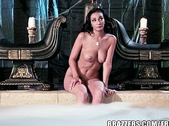 Amber showed off her amazing body and his cock was ready to pound her tight pussy. She moans loud when he sticks his huge shaft inside!