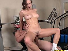 Dude, you just need to watch this dick hardening Reality Kings sex clip, cuz lots of pleasure is guaranteed. Spoiled busty and sweaty brunette goes nuts about riding a cock. She moans and her boobs bounce heavily.