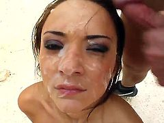 Katerina looks so nice with this huge amount of cum on her pretty face, ain't she?